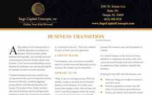 Sage Capital Concepts Business Transition Brochure download link