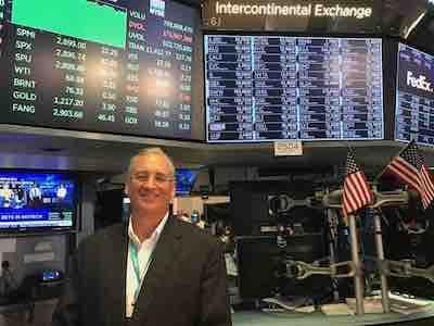 Mark Sherwin NYSE Floor