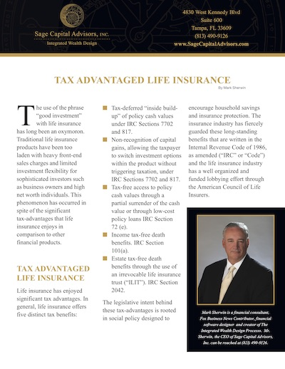 Tax Advantaged Life Insurance